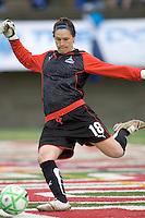 Washington Freedom goalkeeper Erin McLeod (18). The Boston Breakers tied the Washington Freedom, 1-1, at Harvard Stadium on May 17, 2009.
