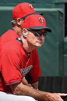 Minnesota Twins manager Paul Molitor (4) before a Spring Training game against the Pittsburgh Pirates on March 13, 2015 at McKechnie Field in Bradenton, Florida.  Minnesota defeated Pittsburgh 8-3.  (Mike Janes/Four Seam Images)