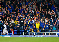 4th September 2021; Merton, London, England;  EFL Championship football, AFC Wimbledon versus Oxford City: Will Nightingale of AFC Wimbledon celebrates after scoring his sides his sides 2nd goal in the 78th minute to make it 2-1
