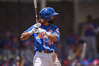 New York Mets Manny Rodriguez (23) bats during a Minor League Spring Training game against the Houston Astros on April 27, 2021 at FITTEAM Ballpark of the Palm Beaches in Palm Beach, Fla.  (Mike Janes/Four Seam Images)