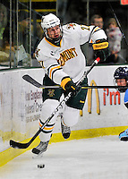 2 December 2011: University of Vermont Catamount defenseman Anders Franzon, a Junior from Plattsburgh, NY, in action against the University of Maine Black Bears at Gutterson Fieldhouse in Burlington, Vermont. The Catamounts fell to the Black Bears 6-4 in the first game of their 2-game Hockey East weekend series. Mandatory Credit: Ed Wolfstein Photo