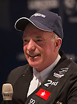 Bertram Allen of Ireland, John Whitaker of Great Britain and Puis Schwizer of Suitzerland attend a press conference after the Longines Speed Challenge as part of the Longines Masters of Hong Kong on 20 February 2016 at the Asia World Expo in Hong Kong, China. Photo by Juan Manuel Serrano / Power Sport Images