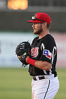 Preston Beck (5) of the High Desert Mavericks in the field during a game against the Inland Empire 66ers at Mavericks Stadium on May 6, 2015 in Adelanto, California. Inland Empire defeated High Desert, 10-4. (Larry Goren/Four Seam Images)
