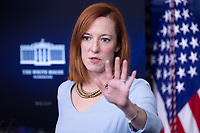 White House Press Secretary Jen Psaki holds a news briefing in the James Brady Press Briefing Room of the White House, in Washington, DC, USA, 10 February 2021.<br /> CAP/MPI/RS<br /> ©RS/MPI/Capital Pictures