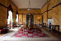 The Egyptian dining room, restored to its former glory in the late 1990s. The walls are scagliola. It was originally designed by James Wyatt for the 3rd duke of Richmond between 1802 and 1806