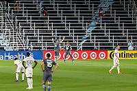 ST PAUL, MN - SEPTEMBER 06: Jacori Hayes #5 of Minnesota United FC celebrates his goal during a game between Real Salt Lake and Minnesota United FC at Allianz Field on September 06, 2020 in St Paul, Minnesota.