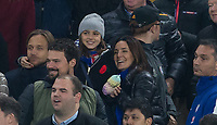 Antonio Conte wife Elisabetta Muscarello & Daughter are all smiles at full time during the EPL - Premier League match between Chelsea and Manchester United at Stamford Bridge, London, England on 5 November 2017. Photo by Andy Rowland / PRiME Media Images.