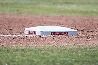 STANFORD, CA - MAY 29: Base during a game between Oregon State University and Stanford Baseball at Sunken Diamond on May 29, 2021 in Stanford, California.