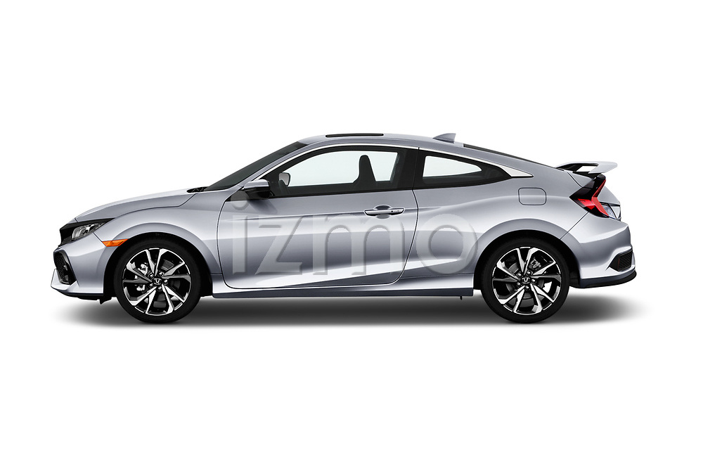 Car driver side profile view of a 2018 Honda Civic Si 2 Door Coupe