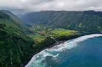 Sacred Waipi'o Valley and River along the Hamakua coast of the Big Island of Hawai'i.