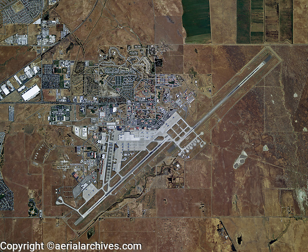 aerial photo map of Travis Air Force Base airport, Fairfield, Solano county, California