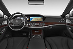 Stock photo of straight dashboard view of a 2014 Mercedes Benz S-Class S63 AMG 4 Door Sedan Dashboard