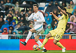 Cristiano Ronaldo (L) of Real Madrid fights for the ball with Daniele Bonera of Villarreal CF during the La Liga 2017-18 match between Real Madrid and Villarreal CF at Santiago Bernabeu Stadium on January 13 2018 in Madrid, Spain. Photo by Diego Gonzalez / Power Sport Images