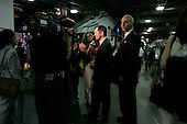 Boston Mass..USA.July 28, 2004..The Democratic National Convention in the Fleetcenter. Dennis Kucinich, U.S. Representative from Ohio back stage after addressing the crowd.