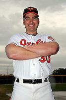 Feb 27, 2010; Tampa, FL, USA; Baltimore Orioles  outfielder Luke Scott (30) during  photoday at Ed Smith Stadium. Mandatory Credit: Tomasso De Rosa