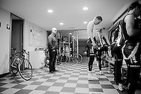 Marcel Sieberg (DEU/Lotto-Soudal) weighing himself after 5 hours of training<br /> <br /> Team Lotto-Soudal <br /> 2016 pre-season training camp<br /> <br /> Mallorca, december 2015