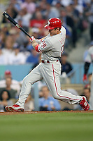 08/9/11 Los Angeles, CA: Philadelphia Phillies second baseman Chase Utley #26 during an MLB game against the Los Angeles Dodgers played at Dodger Stadium. The Phillies defeated the Dodgers 5-3.