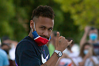 Paris Saint-Germain arrive to Myriad hotel in Lisbon