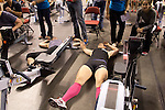 Concept2 Crash-B World Indoor Rowing Championships, 2012, Master Women (Age 30-39), Morgan Funke, RowFit Chicago, (Center) 1st, athletes compete annually on a Concept2 Indoor Rower for time over 2000 meters, Agganis Arena, Boston University, Boston, Massachusetts,