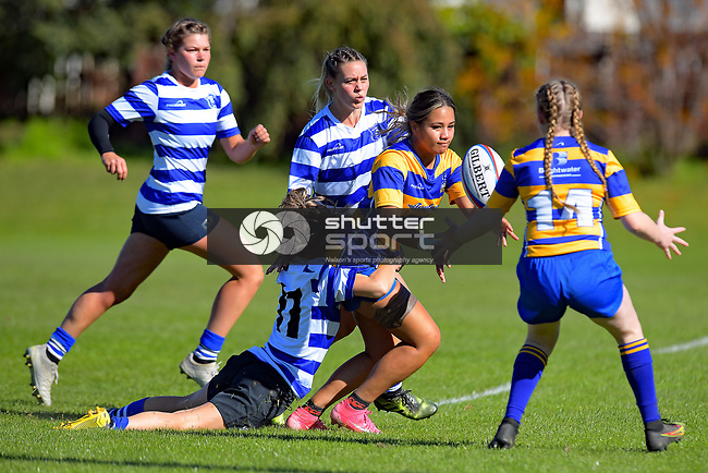 NELSON, NEW ZEALAND - Woman's Rugby: Wanderers v Riwaka. Brightwater, Saturday 1st May 2021. Nelson, New Zealand. (Photos by Barry Whitnall/Shuttersport Limited)