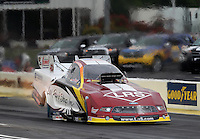 May 10, 2013; Commerce, GA, USA: NHRA funny car driver Tim Wilkerson during qualifying for the Southern Nationals at Atlanta Dragway. Mandatory Credit: Mark J. Rebilas-