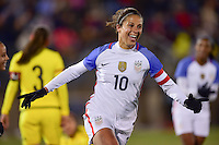 East Hartford, Conn. - April 6, 2016: The U.S. Women's National team take a 4-0 lead over Colombia with a Carli Lloyd goal at intermission in an international friendly match at Pratt & Whitney Stadium.