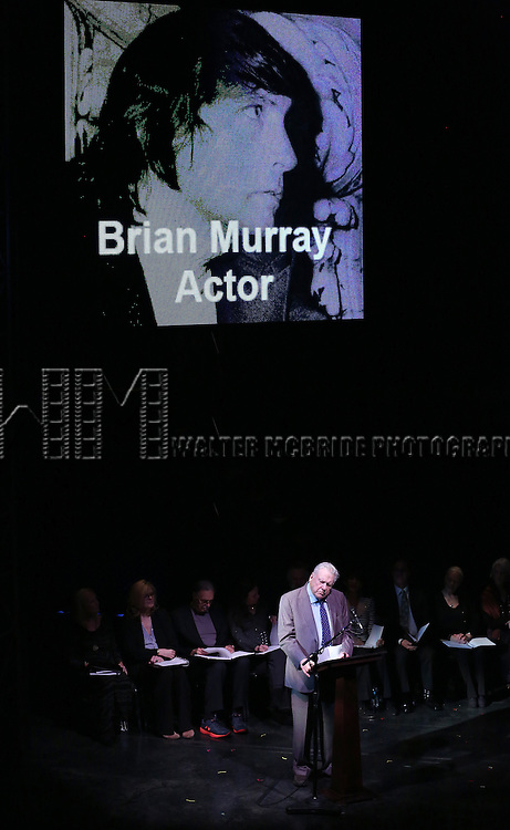 Brian Murray attends the Edward Albee Memorial at The August Wilson Theatre on December 6, 2016 in New York City.