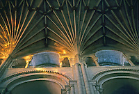 Norwich: Norwich Cathedral--Piers, vaulting.  Photo '90.