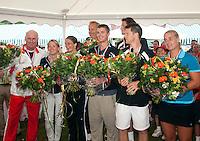 06-06-10, Tennis, Den Haag, Playoffs Eredivisie, Huldiging team Popeye Zuiver