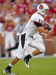 Ball State Cardinals wide receiver Briggs Orsbon (1) in action during the game between the Ball State Cardinals  and the Oklahoma Sooners at the Oklahoma Memorial Stadium in Norman, Oklahoma. OU defeats Ball State 62 to 6.