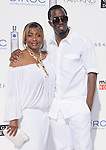 Sean P-Diddy Combs & Janice Combs at The White Party presented by P-Diddy ,Ashton Kutcher & Malaria No More held at  private Estate in Cold Water Canyon, California on July 04,2009                                                                   Copyright 2009 Debbie VanStory / RockinExposures