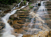 Silver Cascade in Crawford Notch State Park of the White Mountains, New Hampshire USA.