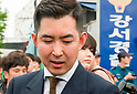 Cho Hyun-Min, a senior executive at Korean Air Lines questioned at police station in Seoul