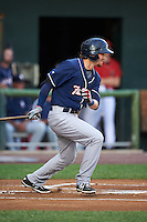 New Hampshire Fisher Cats first baseman Shane Opitz (16) at bat during a game against the Harrisburg Senators on July 21, 2015 at Metro Bank Park in Harrisburg, Pennsylvania.  New Hampshire defeated Harrisburg 7-1.  (Mike Janes/Four Seam Images)