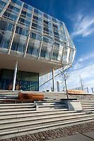 Deutschland, Hamburg, Strandkai 1, Unilever Haus, erbaut vom Archtekturbüro Behnisch, Energiesparhaus