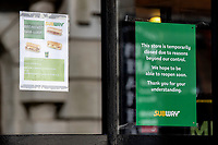 Pictured: A general view of Subway inSwansea City Centre during the Covid-19 Coronavirus pandemic in Wales, UK, Swansea, Wales, UK. Monday 23 March 2020