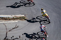 yellow jersey Aleksander Kristoff (NOR/UAE) descending Col de Turini<br /> <br /> 107th Tour de France 2020 (2.UWT)<br /> (the 'postponed edition' held in september)<br /> Stage 2 from Nice to Nice 186km<br /> ©kramon