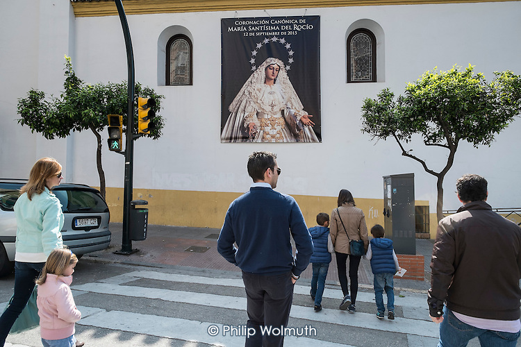 Sunday morning church-goers in Malaga, Spain.