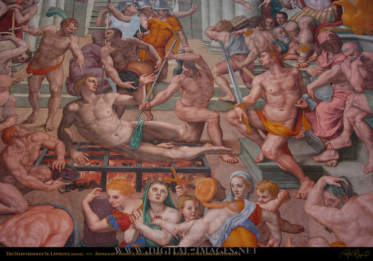 Martyrdom of St Lawrence Bronzino 1569 Basilica di San Lorenzo Florence