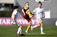 Federica Polverino of Roma CF and Jenny Bitzer of AS Roma compete for the ball during the Women Italy cup round of 8 second leg match between AS Roma and Roma Calcio Femminile at stadio delle tre fontane, Roma, February 20, 2019 <br /> Foto Andrea Staccioli / Insidefoto
