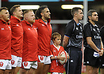 Wales captain Josh Navidi during the anthem <br /> <br /> Photographer Ian Cook/CameraSport<br /> <br /> 2019 Under Armour Summer Series - Wales v Ireland - Saturday 31st August 2019 - Principality Stadium - Cardifff<br /> <br /> World Copyright © 2019 CameraSport. All rights reserved. 43 Linden Ave. Countesthorpe. Leicester. England. LE8 5PG - Tel: +44 (0) 116 277 4147 - admin@camerasport.com - www.camerasport.com