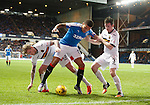 James Tavernier with Willie Gibson and Mark Docherty