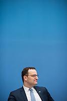 """Bundesgesundheitsminister Jens Spahn (CDU), (im Bild) und Bundesforschungsministerin Anja Karliczek (CDU) stellten am Dienstag den 29. Januar 2019 in Berlin die """"Nationale Dekade gegen Krebs"""" vor. Ziel sei, """"Krebserkrankungen moeglichst verhindern, Heilungschancen durch neue Therapien verbessern, Lebenszeit und -qualitaet von Betroffenen erhoehen"""".<br /> 29.1.2019, Berlin<br /> Copyright: Christian-Ditsch.de<br /> [Inhaltsveraendernde Manipulation des Fotos nur nach ausdruecklicher Genehmigung des Fotografen. Vereinbarungen ueber Abtretung von Persoenlichkeitsrechten/Model Release der abgebildeten Person/Personen liegen nicht vor. NO MODEL RELEASE! Nur fuer Redaktionelle Zwecke. Don't publish without copyright Christian-Ditsch.de, Veroeffentlichung nur mit Fotografennennung, sowie gegen Honorar, MwSt. und Beleg. Konto: I N G - D i B a, IBAN DE58500105175400192269, BIC INGDDEFFXXX, Kontakt: post@christian-ditsch.de<br /> Bei der Bearbeitung der Dateiinformationen darf die Urheberkennzeichnung in den EXIF- und  IPTC-Daten nicht entfernt werden, diese sind in digitalen Medien nach §95c UrhG rechtlich geschuetzt. Der Urhebervermerk wird gemaess §13 UrhG verlangt.]"""