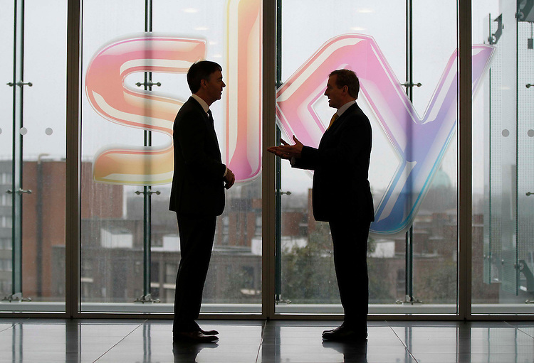 Sky's new Irish base officially opened by.An Taoiseach Enda Kenny TD.Recruitment continues for 800 new positions created at Sky's Customer Contact Centre.Pictured here are Jeremy Darroch, CEO of Sky (left) and An Taoiseach, Enda Kenny TD..Friday 18th January 2013 - An Taoiseach, Enda Kenny TD today joined Jeremy Darroch, CEO of Sky to officially open the company's new operations centre at Burlington Plaza on Burlington Road. The move represents part of Sky's commitment to invest in its Irish business, including the significant recruitment drive which is currently underway for 800 roles at its Customer Contact Centre..Sky, Ireland's most popular digital TV provider, created the 800 new jobs in order to meet increased service demands from Irish customers and to enable it to serve them from one dedicated site for the first time. Interested applicants can visitwww.skycustomercentres.comfor more information..Pic: Robbie Reynolds