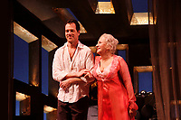 NEW YORK, NY- JANUARY 30: Darren Pettie and Olympia Dukakis during the opening curtain call for The Milk Train Doesn't Stop Here Anymore, held at the Laura Pels Theatre, on January 30, 2011, in New York City. Credit: Joseph Marzullo/MediaPunch
