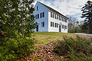Old Walpole Meetinghouse in South Bristol, Maine during the autumn months. Built 1772, this meetinghouse was added to the National Register of Historic Places in 1976.