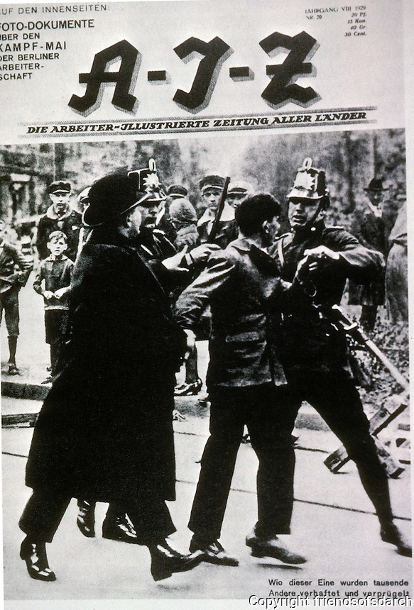 Technology: A-I-Z, 1929. Arrest after Berlin May Day Demo.  Photo '85.