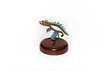 Title: Dinosaur<br /> Materials: Tooth Extracting Plier, Copper and Wood<br /> Size: 6Tx6x6<br /> Price: Available on Request