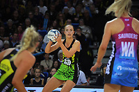 Pulse goal defence Kelly Jury in action during the ANZ Premiership netball match between Central Pulse and Southern Steel at Te Rauparaha Arena in Porirua, New Zealand on Sunday, 16 May 2021. Photo: Dave Lintott / lintottphoto.co.nz