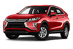 Stock pictures of low aggressive front three quarter view of a 2018 Mitsubishi Eclipse Cross ES 2WD 5 Door SUV